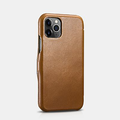 iCarer iPhone 11 (6.1) Case Vintage Series Side-open (metal clip on the front) Brown EU