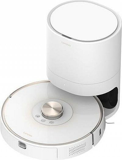 Lenovo T1 Pro Robot Vacum Cleaner with Dustbin Disposal White/Gold