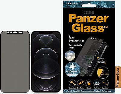 PanzerGlass iPhone 12/12 Pro Case Friendly CamSlider Dual Privacy Screen Protector Black EU
